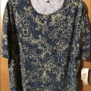 Lularoe Disney Irma XS Minnie  (blue &cream) NWT